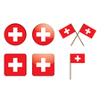 Badges with swiss flag vector