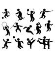 Sport people silhouette vector