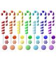 Delicious lollipop collection vector