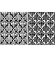 Floral damask seamless patterns vector