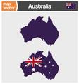 Australian map vector