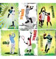 Sport posters vector