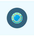 Icon with colored porthole vector