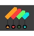 Social media infographic vector