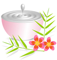 Beauty cream container on white background with vector