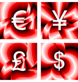 Design currency icons set vector