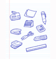 Office stationery icons vector