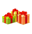 Colorful gift box on white background vector