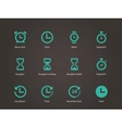 Time and clock icons vector