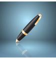 Black ballpoint pen icon vector