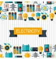 Industry background with power icons in flat vector