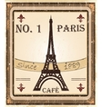 Grungy french coffee background vector
