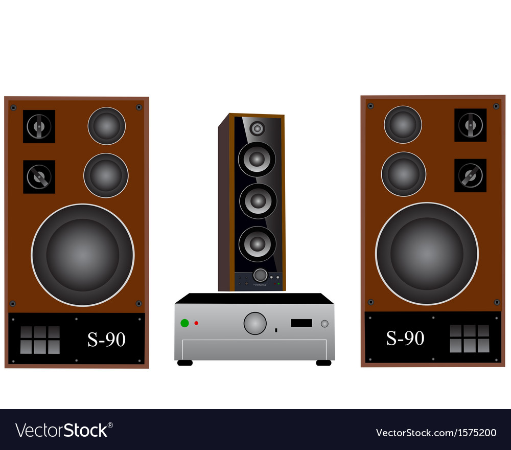Amplifier and speakers vector | Price: 1 Credit (USD $1)
