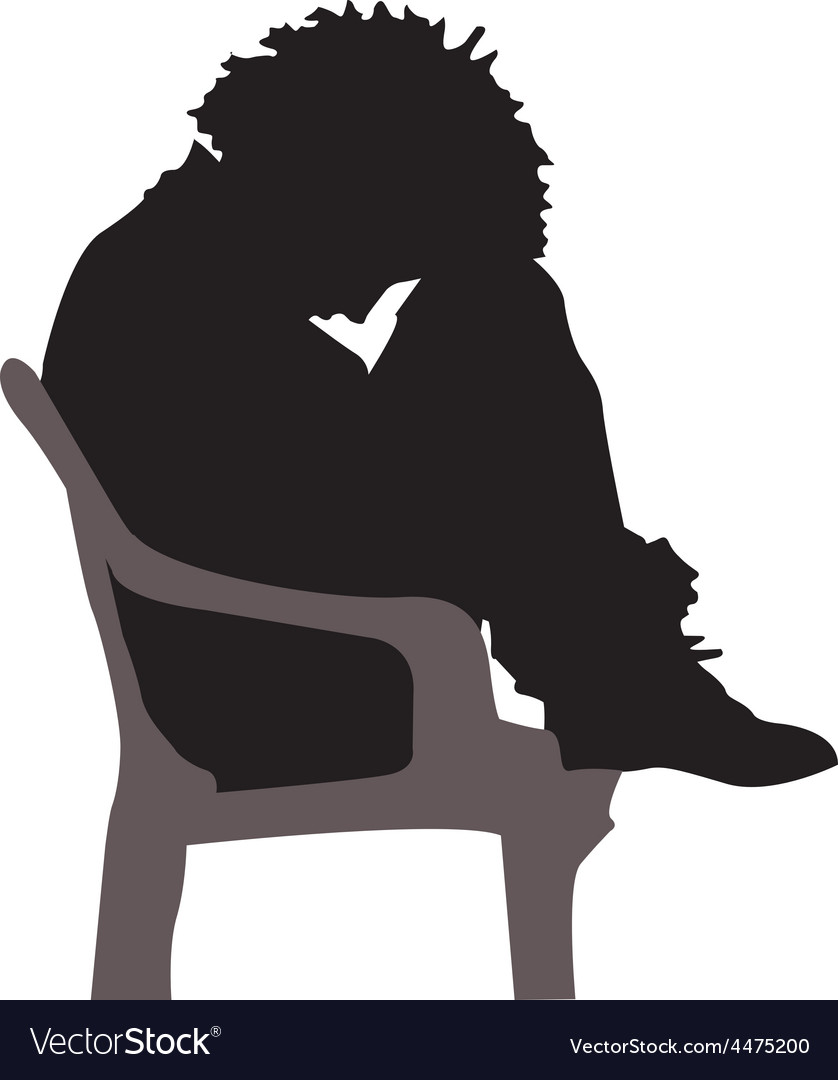 Depressed silhouette vector | Price: 1 Credit (USD $1)