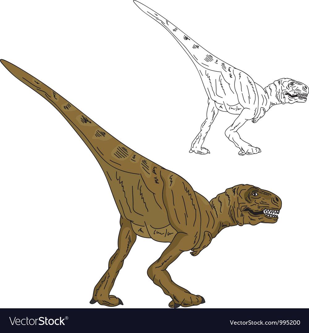 Dinosaur walking vector | Price: 1 Credit (USD $1)