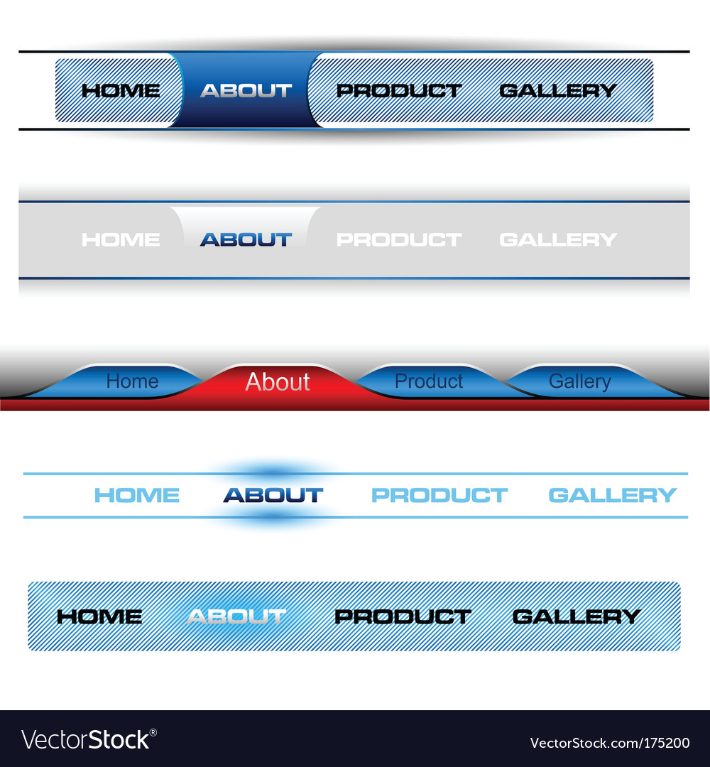 Editable website buttons vector | Price: 1 Credit (USD $1)