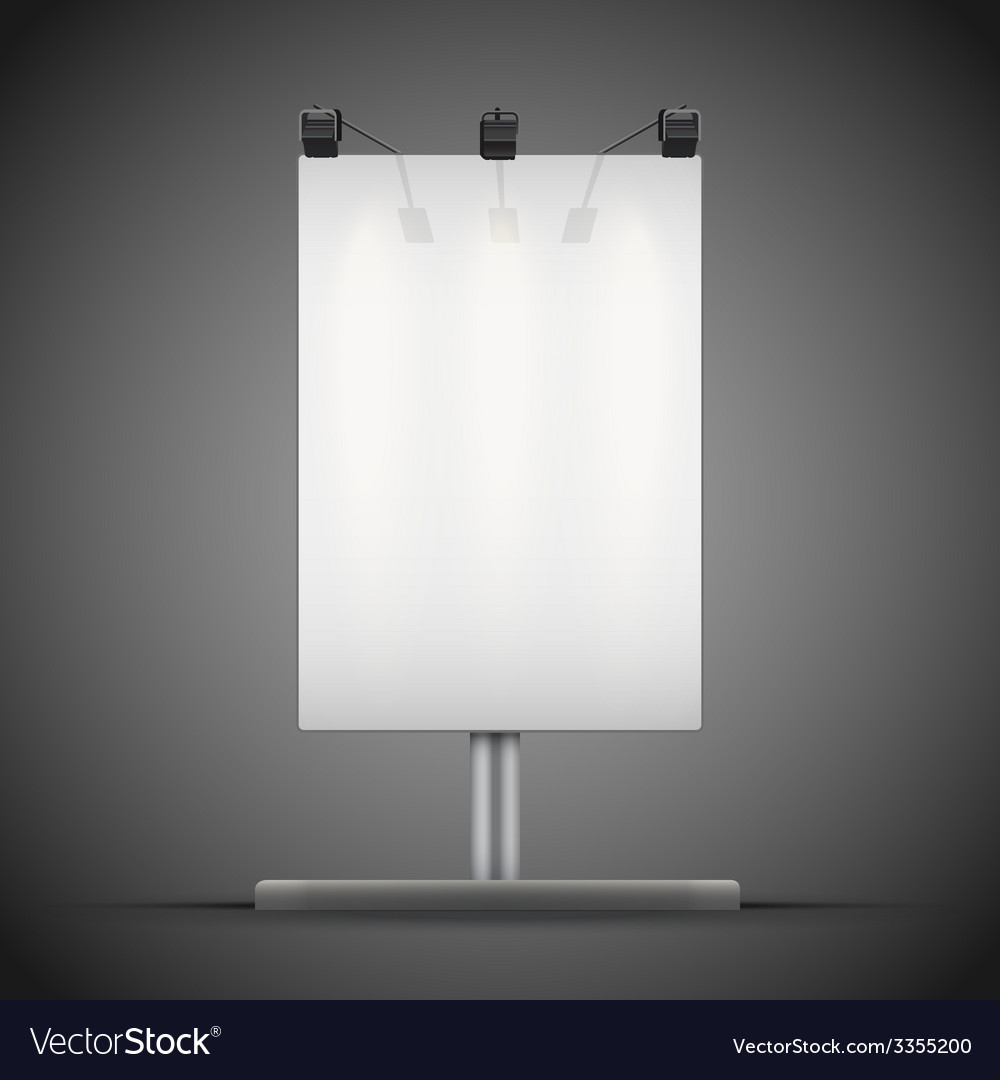 Empty mockup billboard with spotlights and vector | Price: 1 Credit (USD $1)