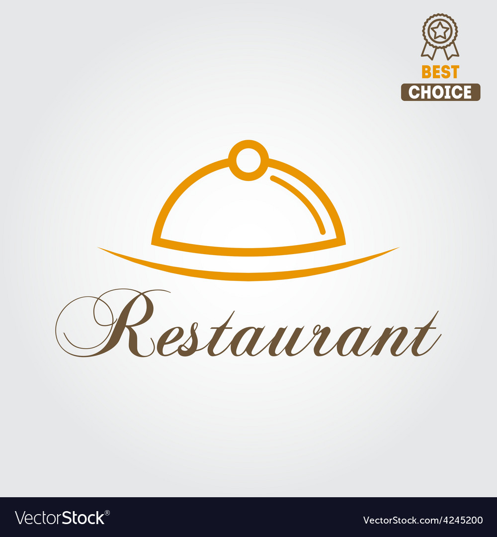Logo or badge for restaurant cafe and bar vector | Price: 1 Credit (USD $1)