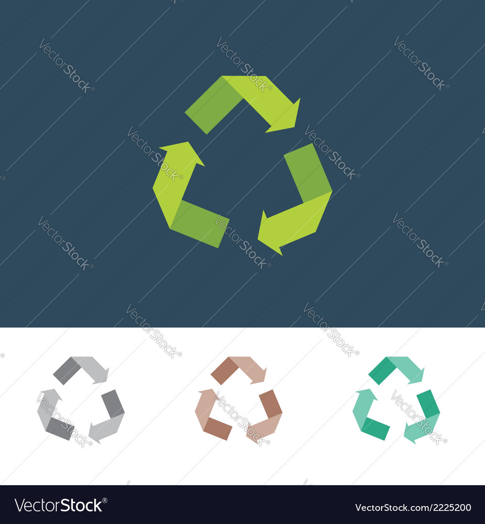 Recycle sign for eco environments vector | Price: 1 Credit (USD $1)