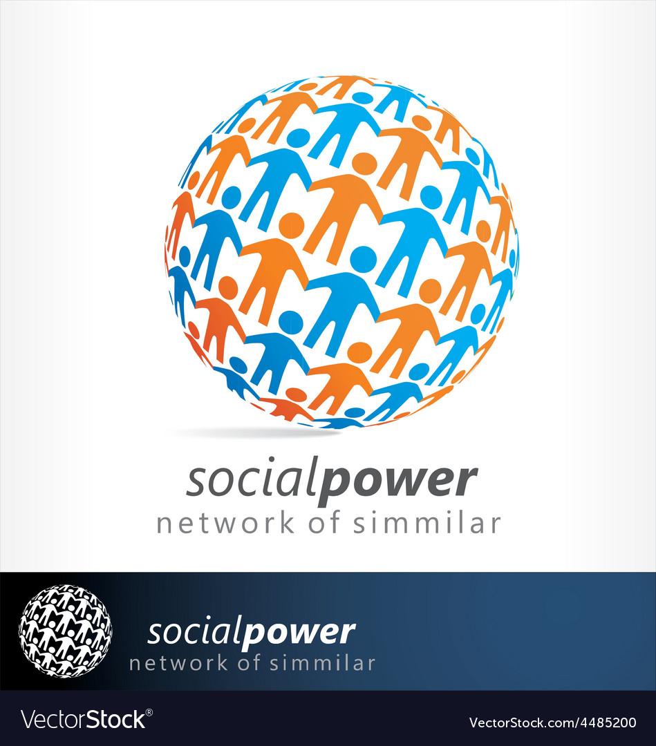 Social logo vector | Price: 1 Credit (USD $1)