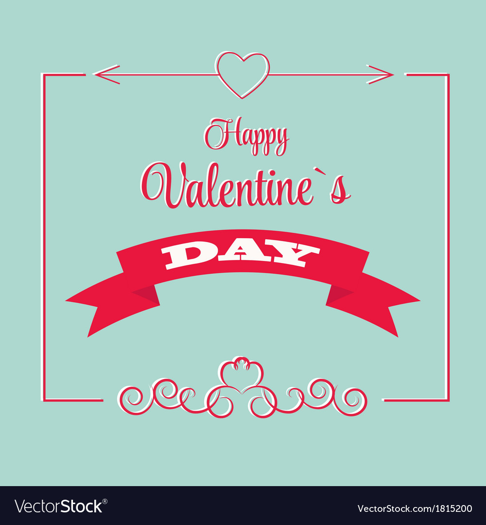 St valentine days greeting card in retro style vector | Price: 1 Credit (USD $1)