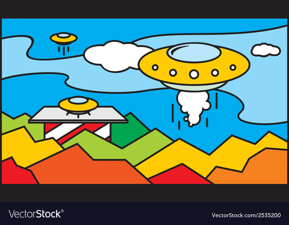 Ufo stained glass pattern vector | Price: 1 Credit (USD $1)