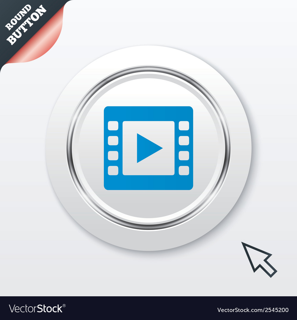 Video sign icon video frame symbol vector | Price: 1 Credit (USD $1)
