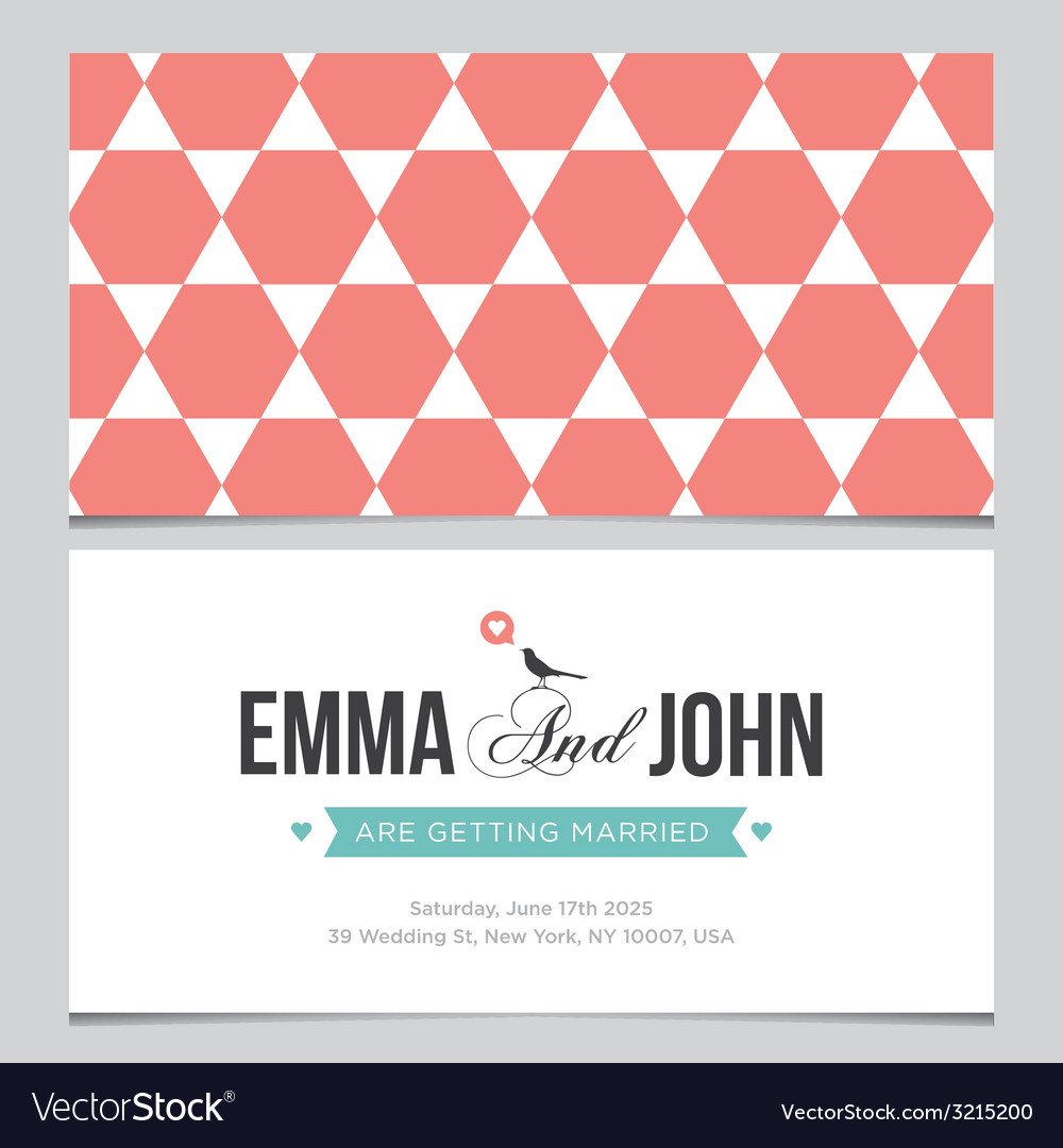 Wedding card pattern 04 vector | Price: 1 Credit (USD $1)