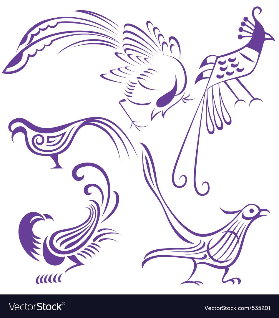 Bird tattoo vector | Price: 1 Credit (USD $1)