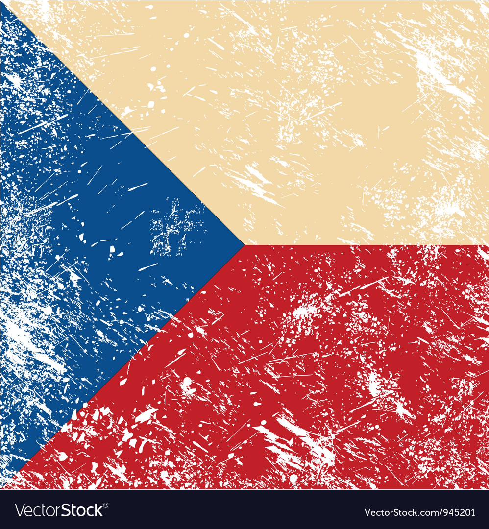 Czech retro flag vector | Price: 1 Credit (USD $1)
