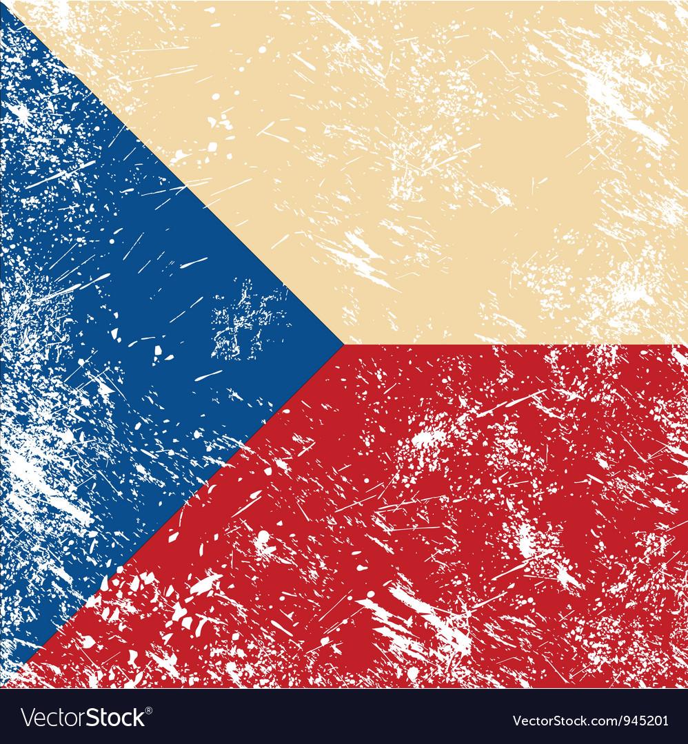 Czech retro flag vector   Price: 1 Credit (USD $1)