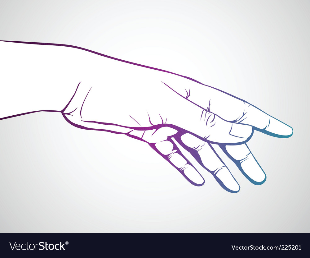 Hand reaching vector | Price: 1 Credit (USD $1)