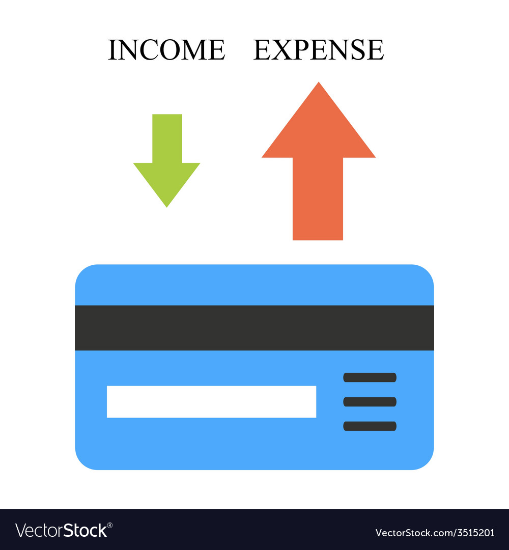 Low income and high expense vector | Price: 1 Credit (USD $1)