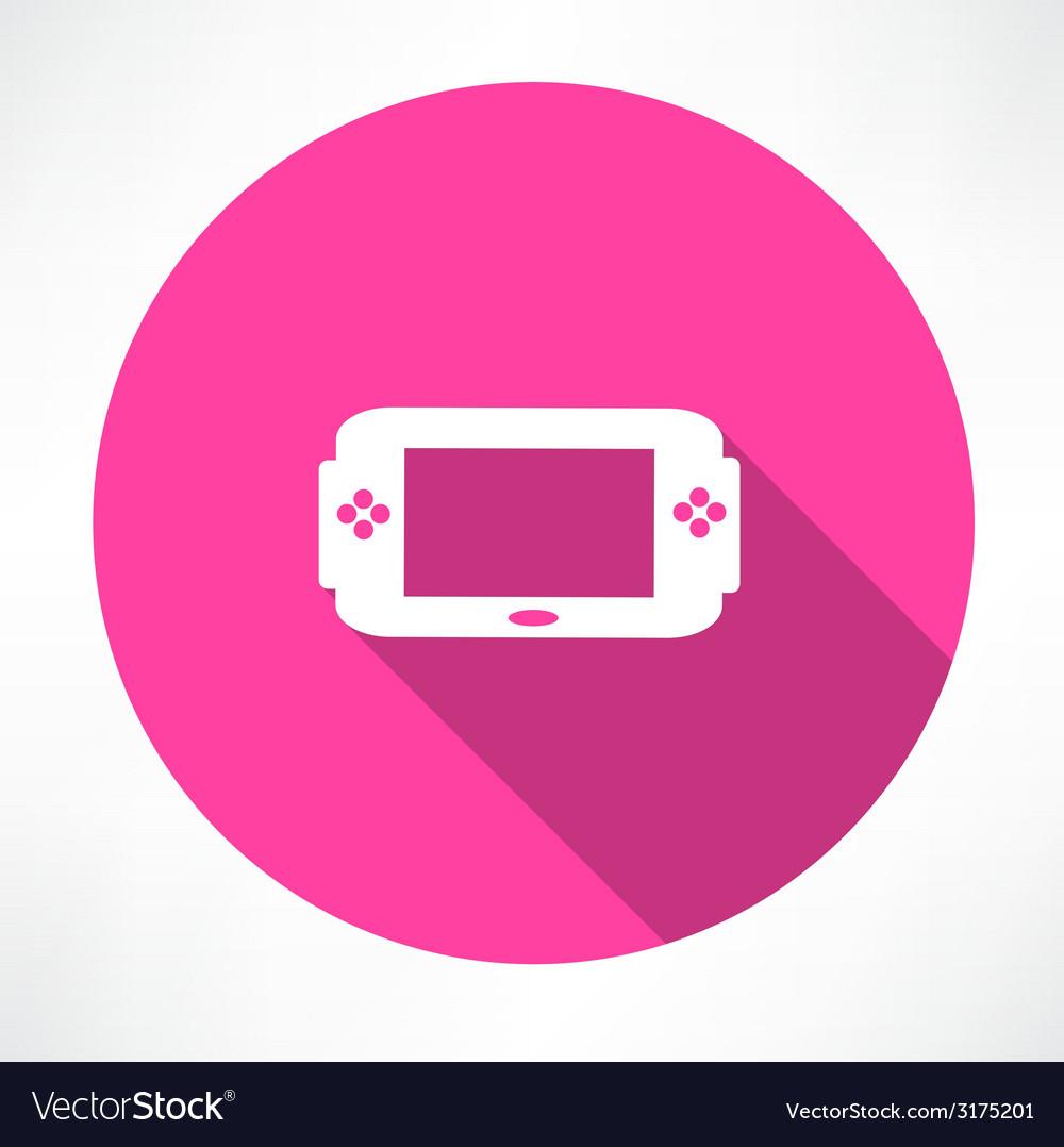 Portable game console icon vector | Price: 1 Credit (USD $1)