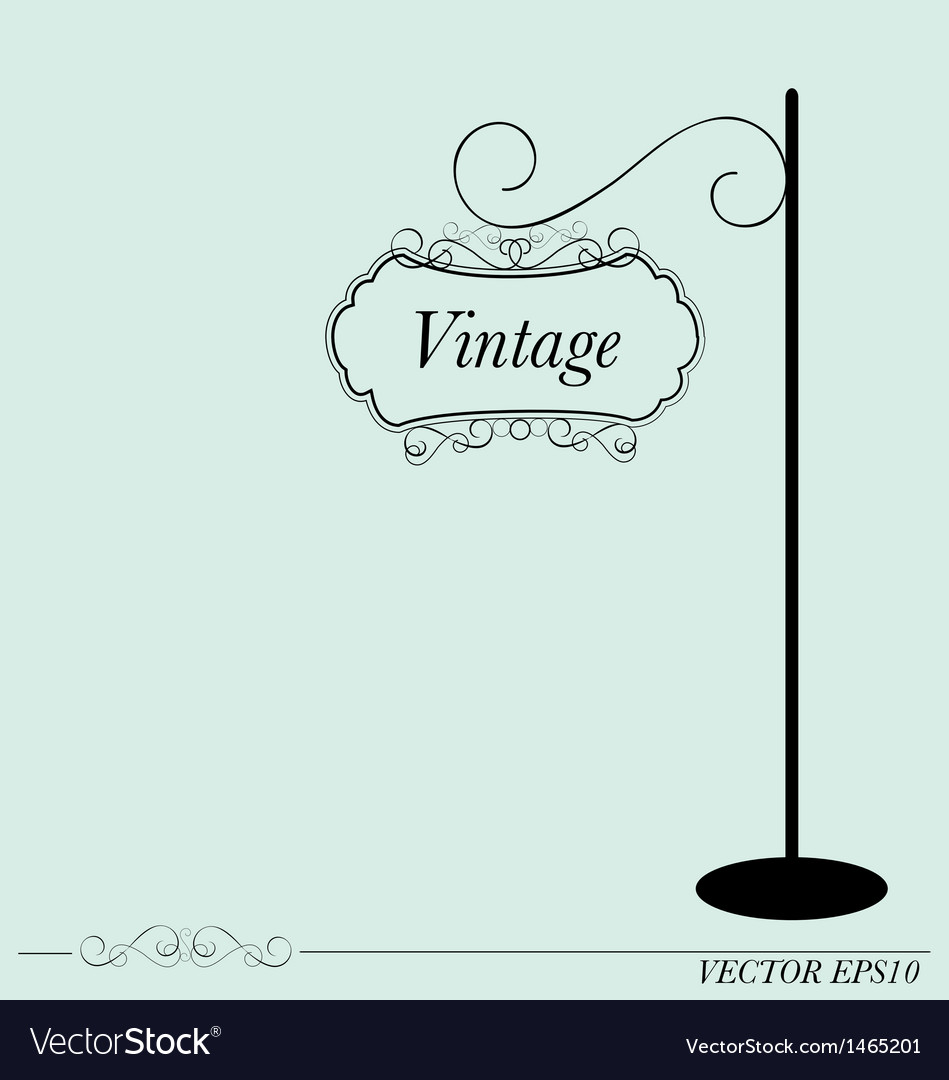 Vintage sign vector | Price: 1 Credit (USD $1)