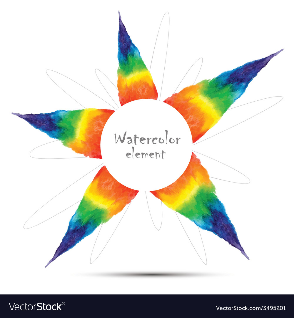 Watercolor rainbow design element with space for t vector | Price: 1 Credit (USD $1)