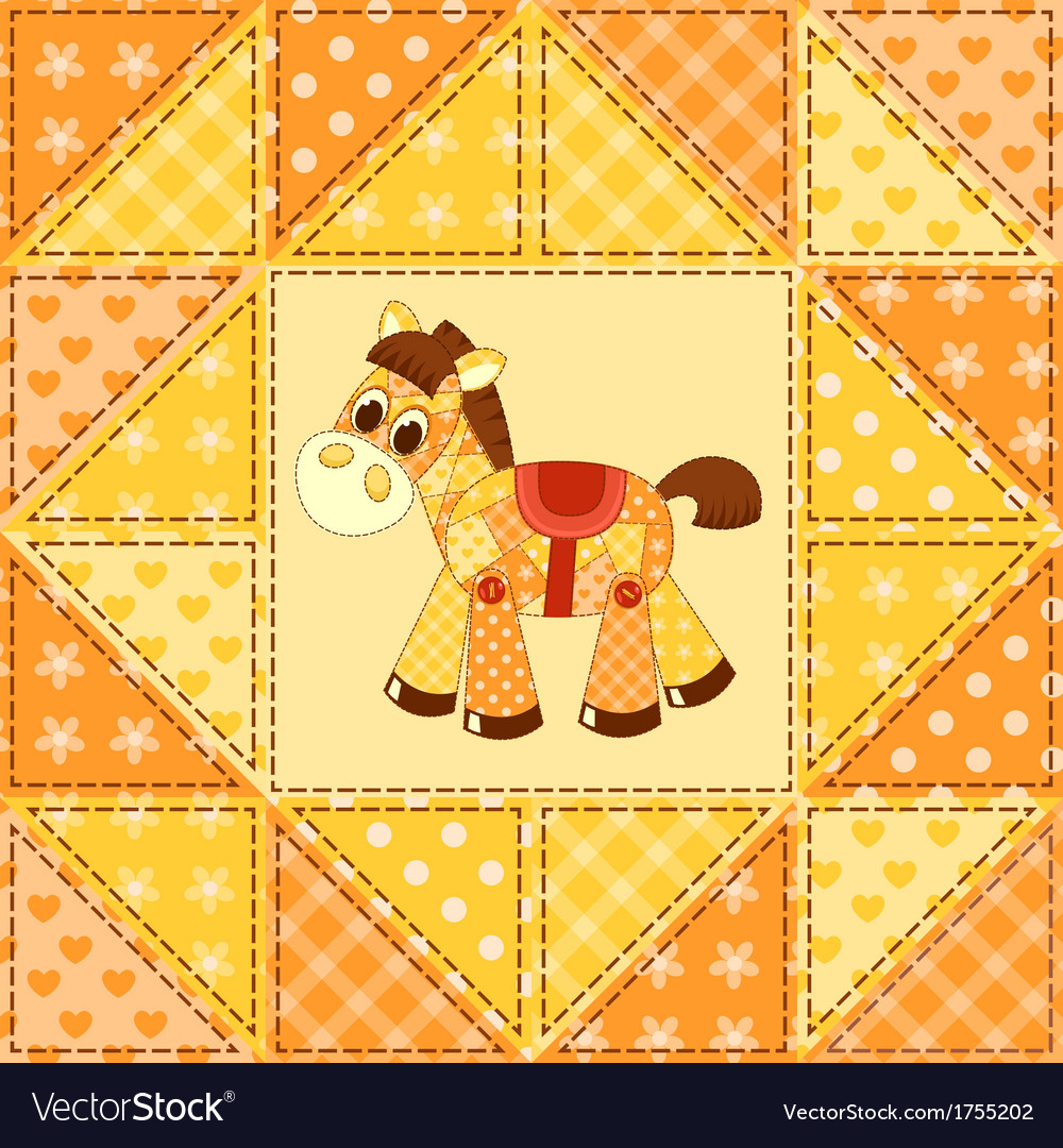 Application horse seamless pattern vector | Price: 1 Credit (USD $1)