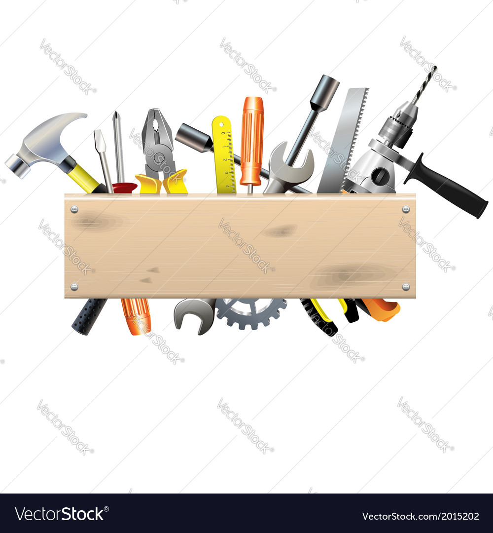 Board with tools vector | Price: 1 Credit (USD $1)
