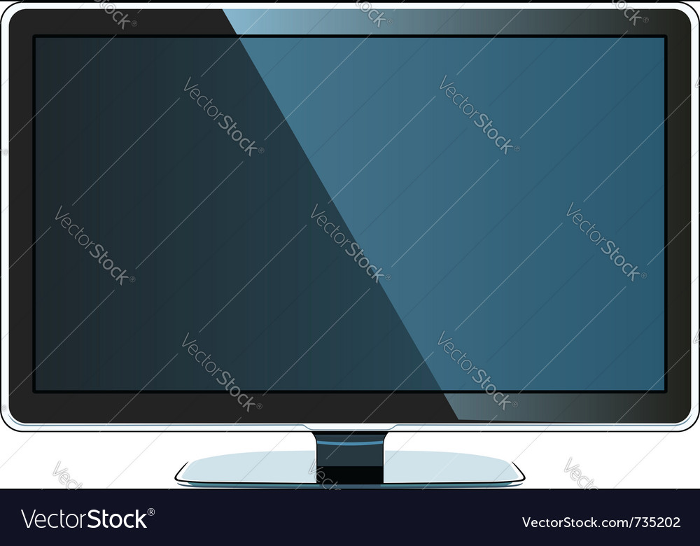 Coloured flat monitor vector | Price: 1 Credit (USD $1)