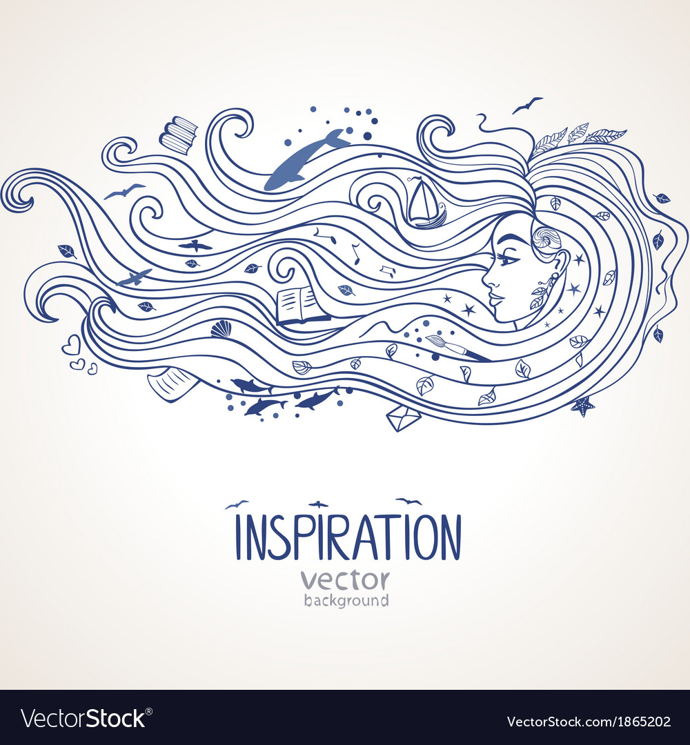Girl inspiration vector | Price: 1 Credit (USD $1)