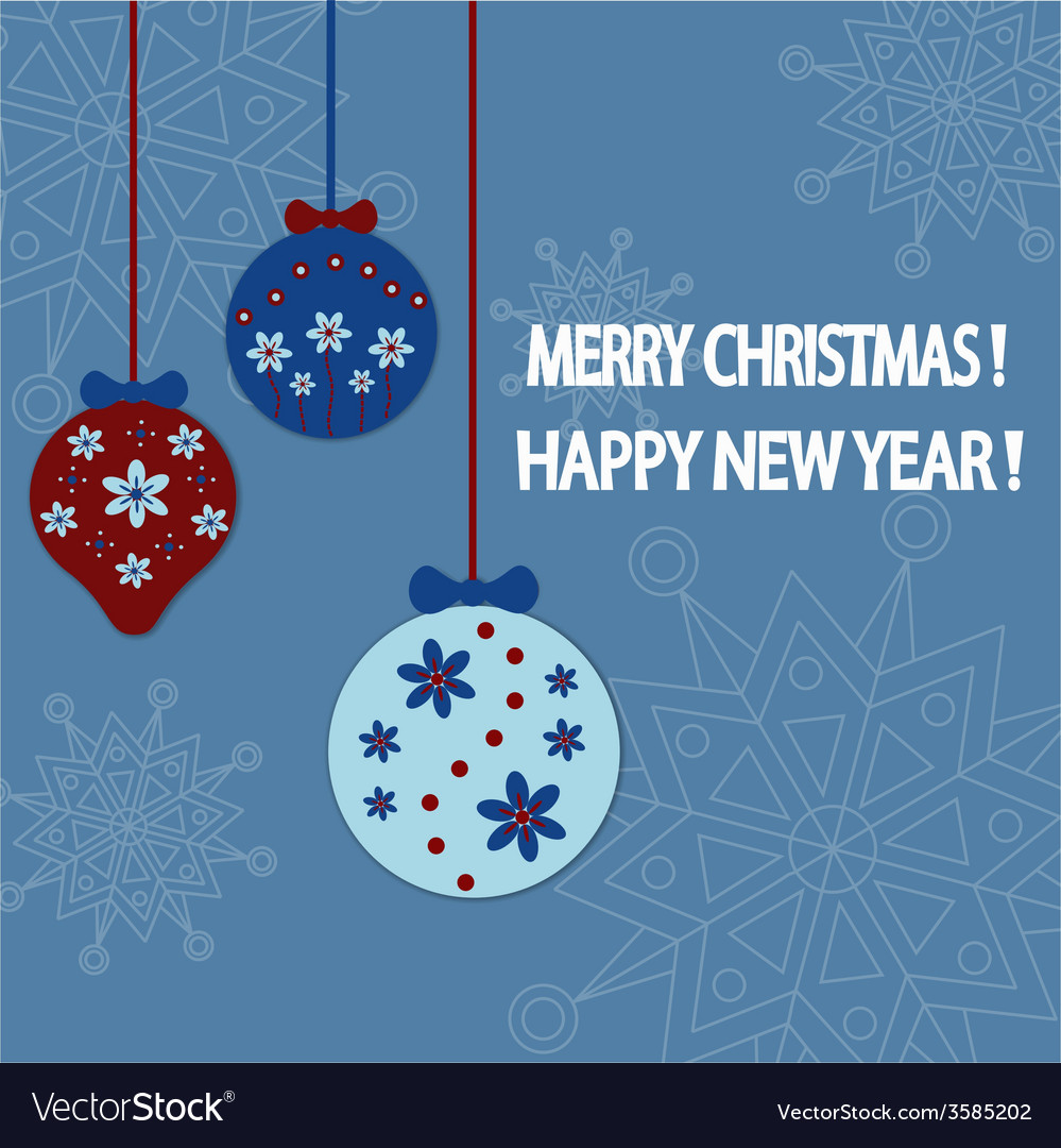 Happy new year card background vector   Price: 1 Credit (USD $1)