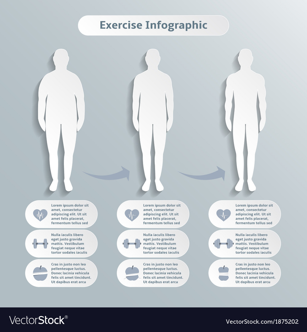Infographic elements for men fitness vector | Price: 1 Credit (USD $1)