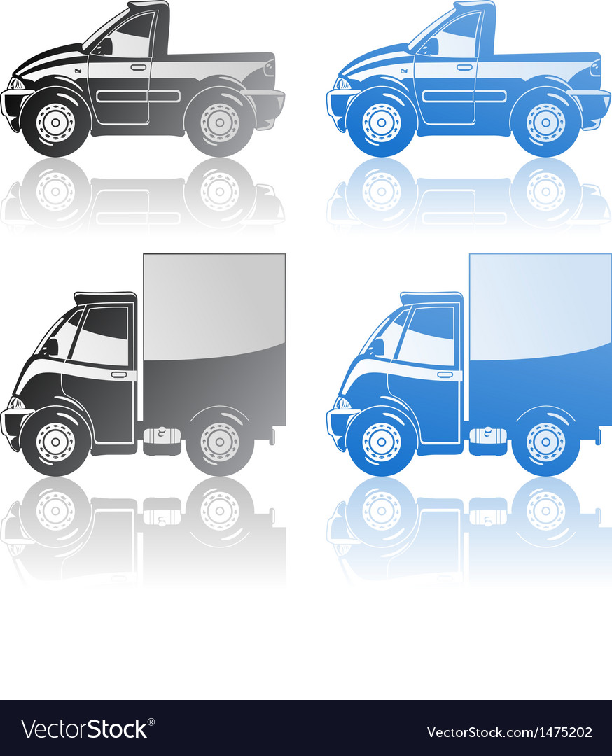 Pickup and small truck vector | Price: 1 Credit (USD $1)