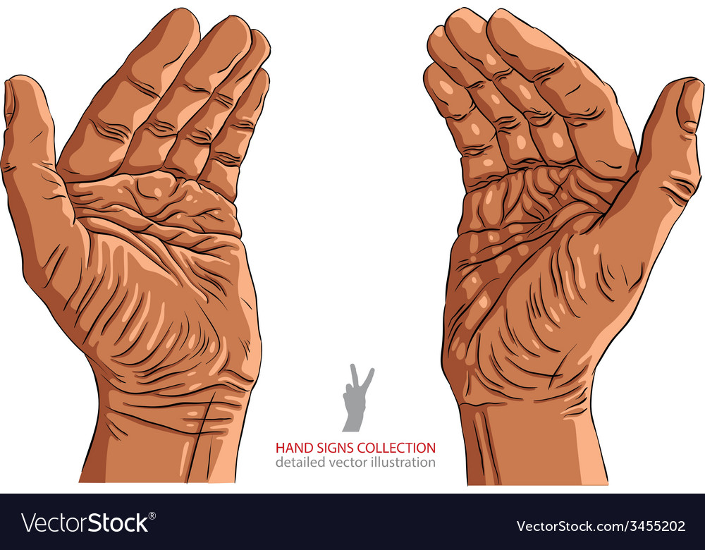 Protecting empty hands with place for some small vector | Price: 1 Credit (USD $1)