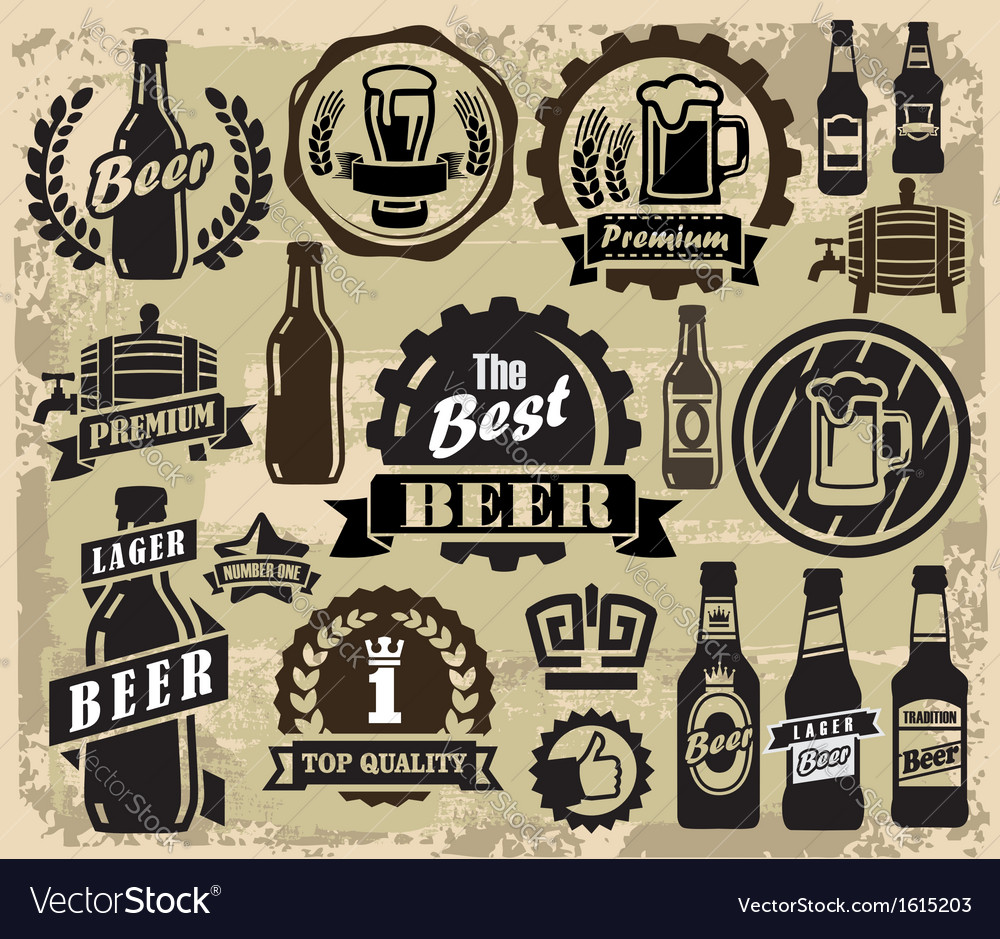 Beer pub labels vector | Price: 1 Credit (USD $1)