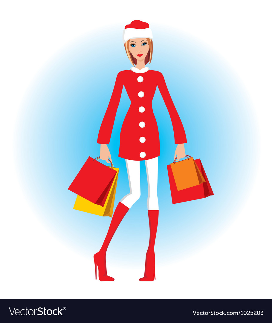 Christmas shopping vector   Price: 1 Credit (USD $1)