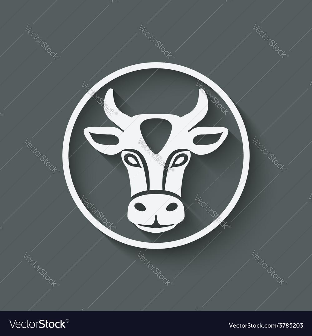 Cow head symbol vector | Price: 1 Credit (USD $1)