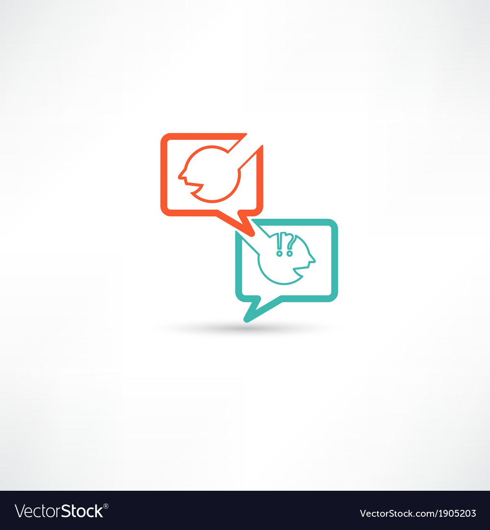 Dialogue of two persons vector | Price: 1 Credit (USD $1)