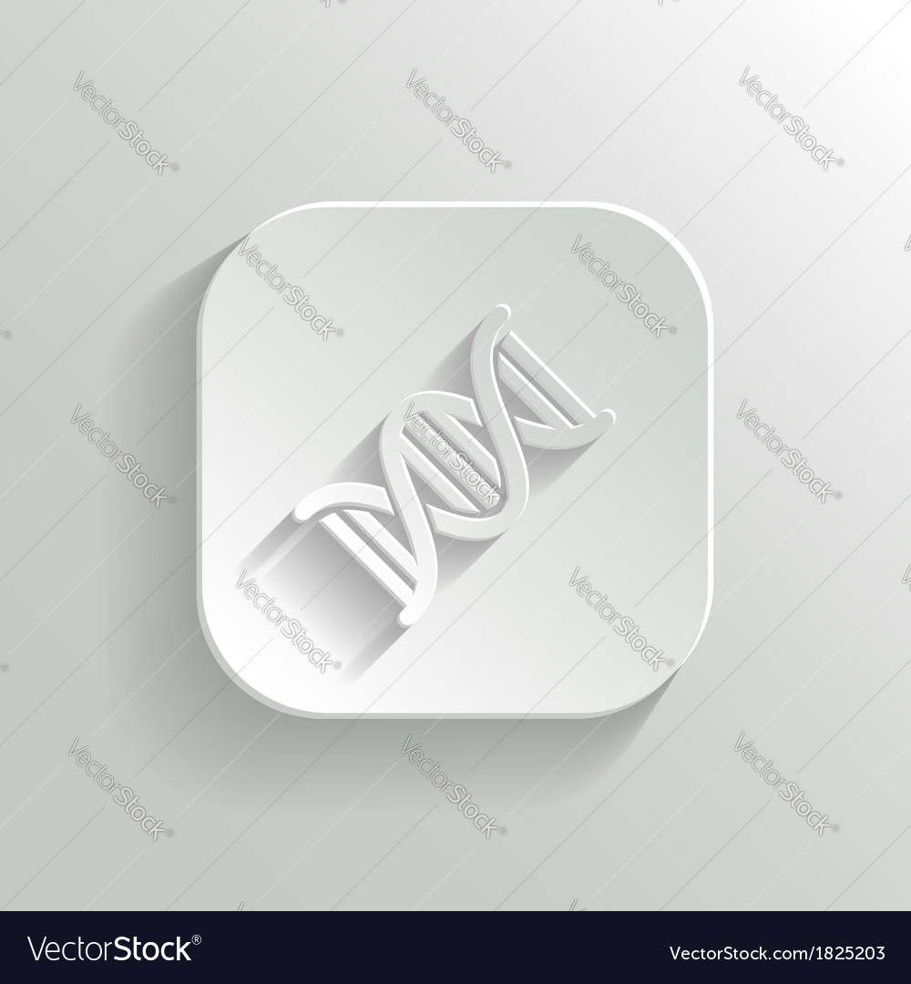 Dna icon - white app button vector | Price: 1 Credit (USD $1)