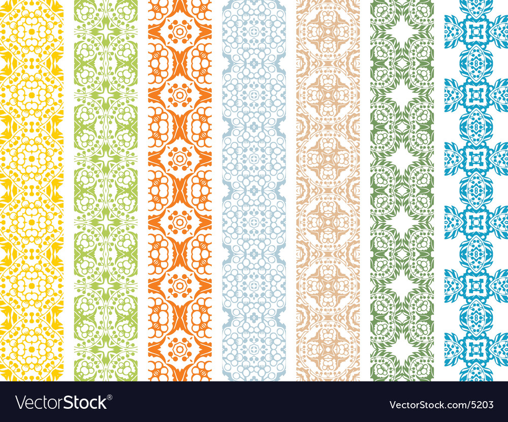 Floral borders vector | Price: 3 Credit (USD $3)